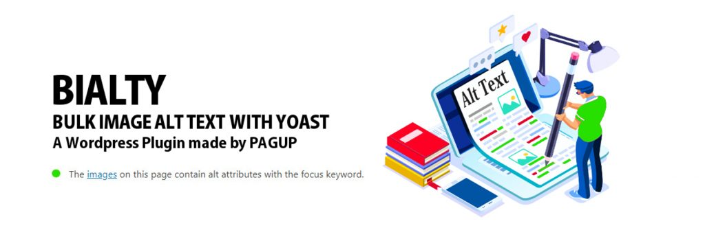 Bulk image Alt text with Yoast