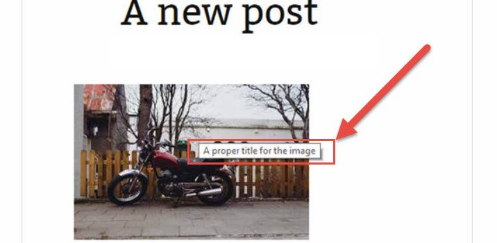 Auto HTML Image Title Attribute (Image Title Tag) Optimierung