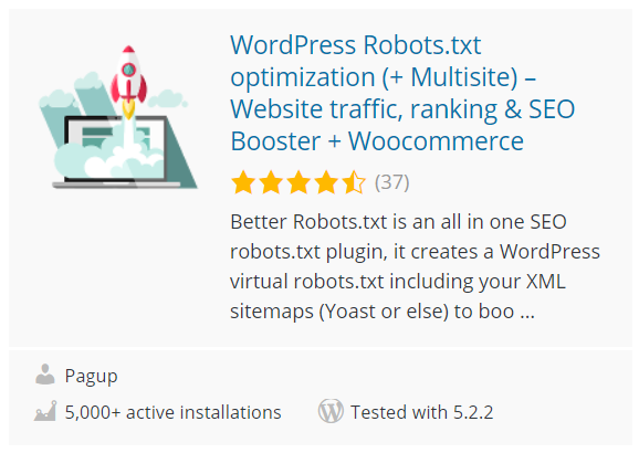 WordPress Robots.txt Optimierung (Better Robots.txt)
