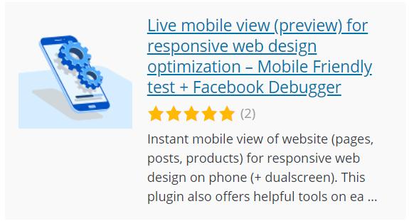Visualizzazione mobile in diretta (anteprima) per l'ottimizzazione di web design responsive