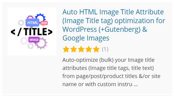Atributo de título de imagen HTML automático (etiqueta de título de imagen) optimización, Better Robots.txt